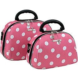 Luca Vergani Pink Dot 2-piece Cosmetic Case Set