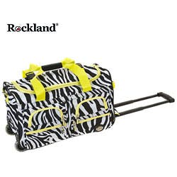 79c1e723ebda Quick View.  40.99. Rockland Deluxe Lime Zebra 22-inch Carry On Rolling  Upright ...