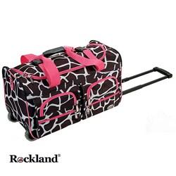 Rockland Deluxe Pink Giraffe 22-inch Carry On Rolling Upright Duffel Bag https://ak1.ostkcdn.com/images/products/3848557/Rockland-Deluxe-Pink-Giraffe-22-inch-Carry-On-Rolling-Upright-Duffel-Bag-P11901318b.jpg?_ostk_perf_=percv&impolicy=medium
