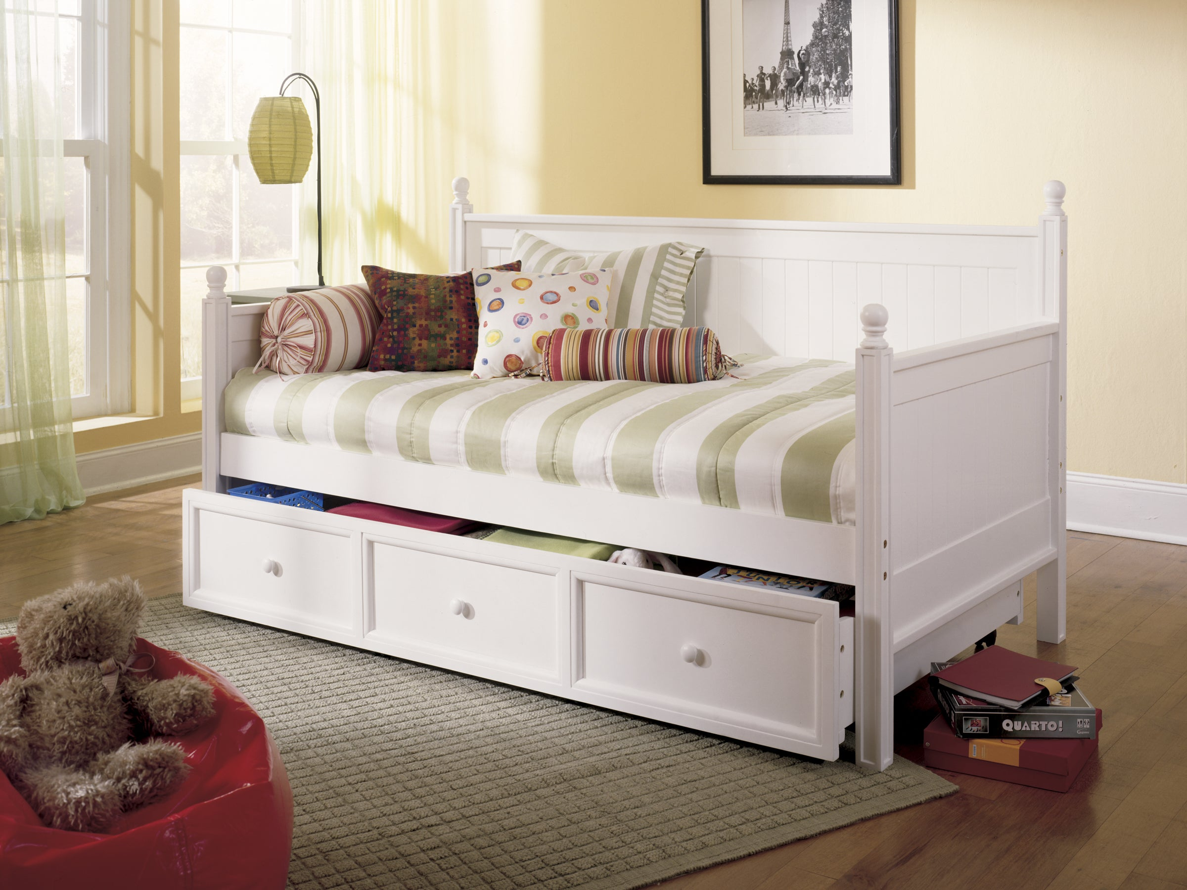 Fashion Bed Group Casey Twin Trundle Daybed (White - Whit...