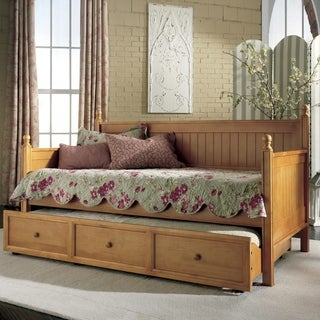 Casey Twin Trundle Daybed (Option: Honey Finish)