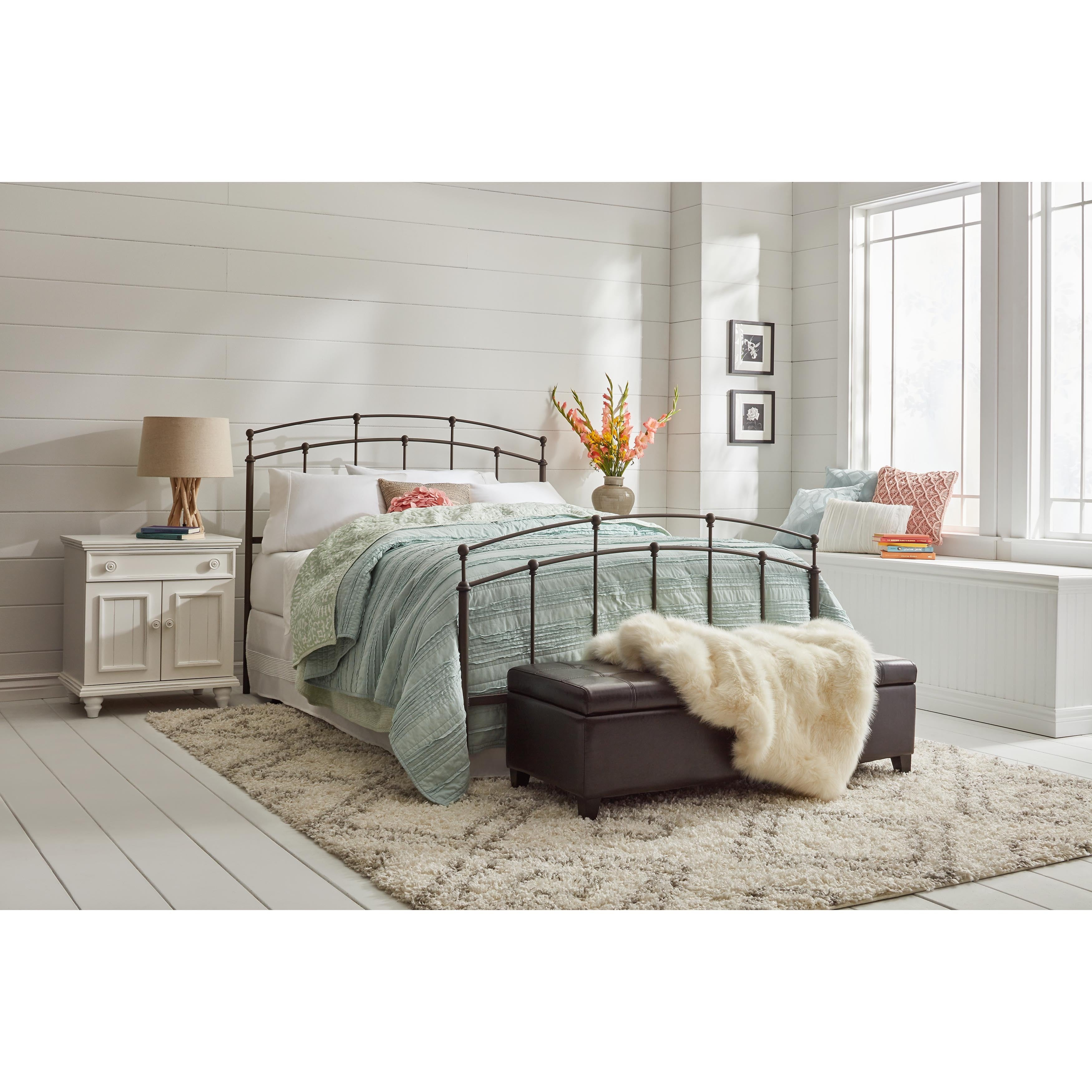 Shop Fenton Complete Bed with Metal Duo Panels and Globe Finials ...