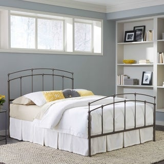 The Gray Barn Ragnarok Complete Bed with Metal Duo Panels and Globe Finials