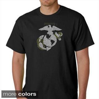 Los Angeles Pop Art Men's US Marine Emblem T-shirt (Option: Red)
