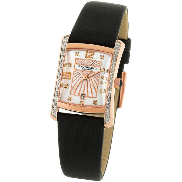 Stuhrling Original Daisy Women's Diamond Swiss Quartz Watch
