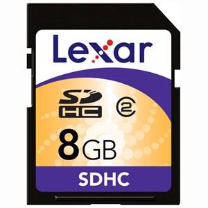 Lexar 8GB Secure Digital High Capacity (SDHC) Card