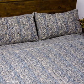 Kalamkari Indigo Duvet Set (India)