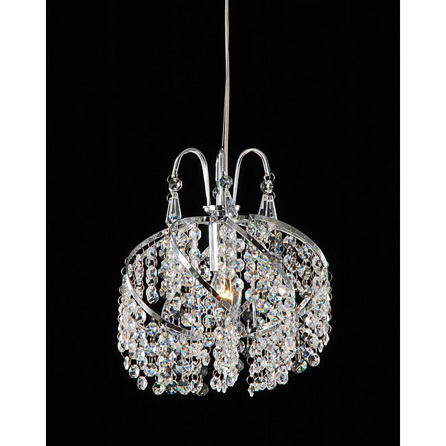 Chrome and Crystal Mini Chandelier - Free Shipping Today ...