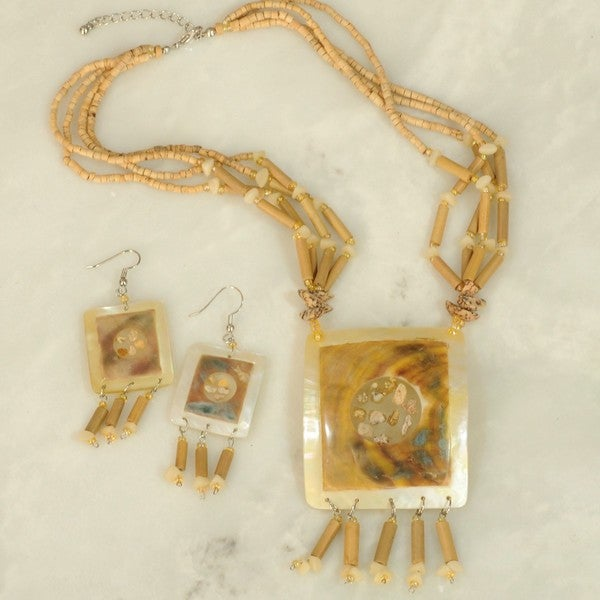 Mother of Pearl 3-piece Jewelry Set (Philippines)