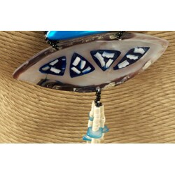 Turquoise Hammer Shell 3-piece Jewelry Set (Philippines) - Thumbnail 2