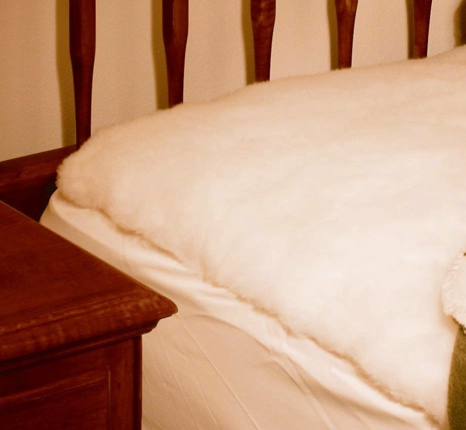 King-size Lambswool Mattress Pad - Thumbnail 1