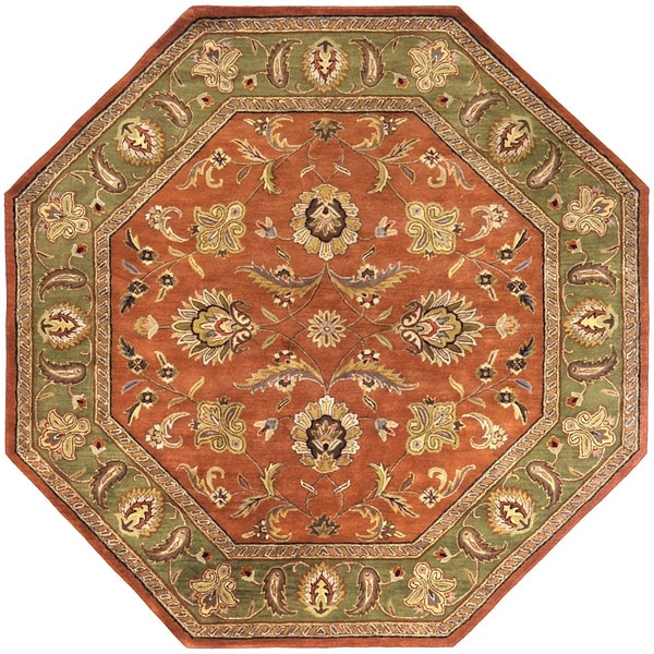 Hand Tufted Camelot Collection Wool Rug 8 Octagonal