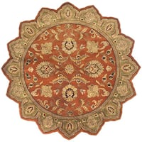 Hand-tufted Camelot Orange Wool Area Rug - 8' x 8'