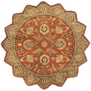Hand-tufted Camelot Orange Wool Area Rug (8' Star)