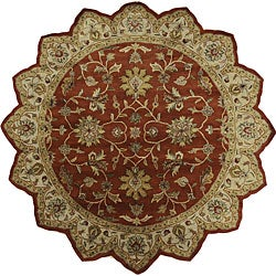 Hand-tufted Camelot Red Wool Rug (8' Round)