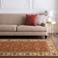 Hand-tufted Camelot Red Wool Area Rug - 8' x 8'