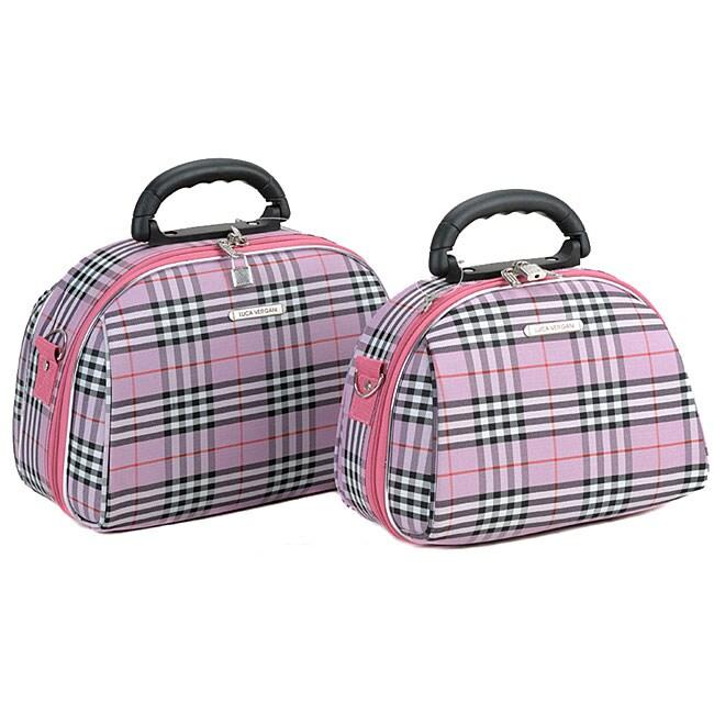 Luca Vergani Pink Cross 2-piece Cosmetic Case Set