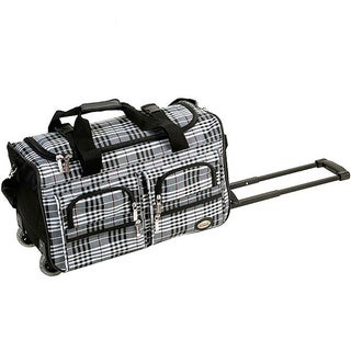 Rockland Black Cross 22-inch Carry On Rolling Duffel Bag