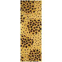 Safavieh Handmade Leopard-print Gold/ Black N. Z. Wool Runner - 2'6 x 8'