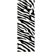 """Safavieh Handmade Zebra Wave White/ Black N. Z. Wool Runner - 2'6"""" x 10'"""
