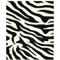 "Safavieh Handmade Soho Zebra Wave White/ Black N. Z. Wool Rug - 9'6"" x 13'6"""