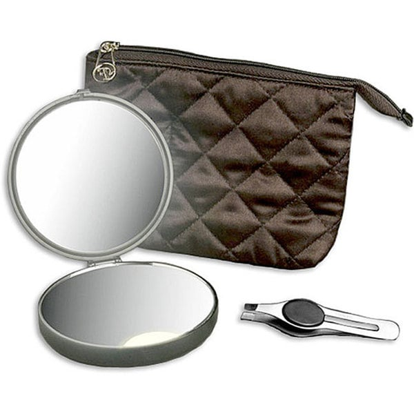 Shop Floxite Lighted Compact Mirror And Precision Tweezer