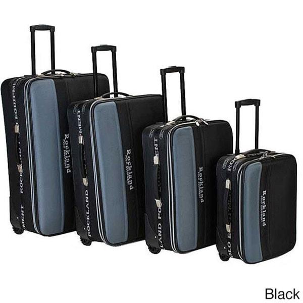 Rockland Polo Equipment 4-piece Luggage Set