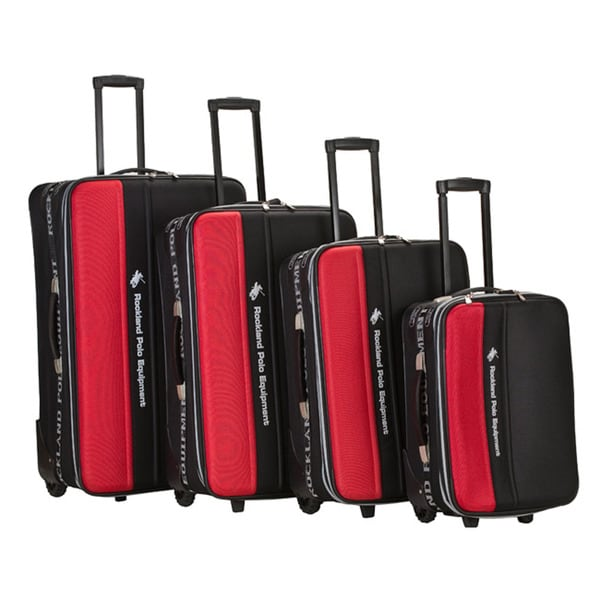 Rockland Polo Equipment 4-piece Red Luggage Set