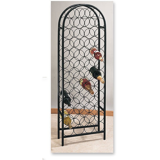 Matte Black 47-bottle Wine Rack
