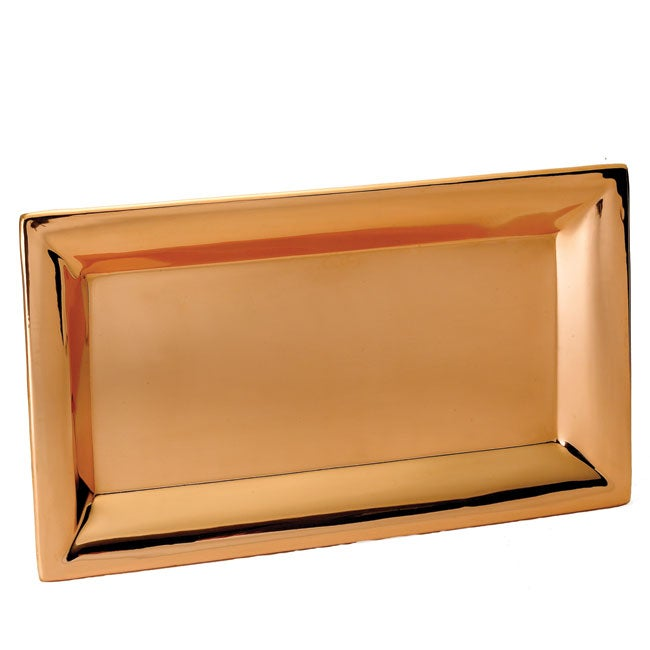 Heavy-gauge Copper-plated Steel Serving Tray