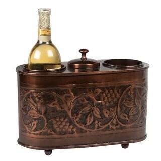Antique Embossed 2-bottle Wine Chiller