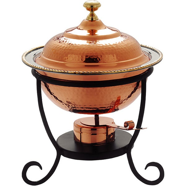 Old Dutch Round Copper Chafing Dish. Opens flyout.