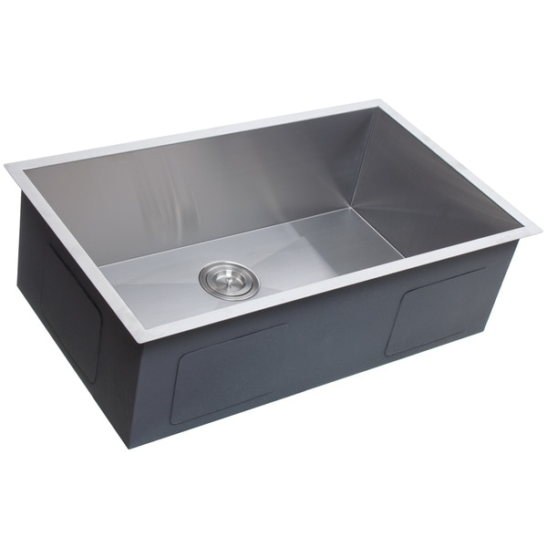 Highpoint Collection 32-inch Zero Radius Stainless Steel Kitchen Sink with Drain