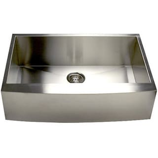 Stainless Steel Single Bowl Apron Farmhouse Kitchen Sink with Drain