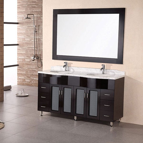 Design Element Modern Double Sink Bathroom Vanity Set Free