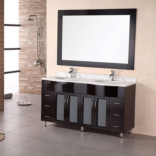 Design Element Modern Double Sink Bathroom Vanity Set
