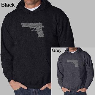 Los Angeles Pop Art Men's Gun Hooded Sweatshirt