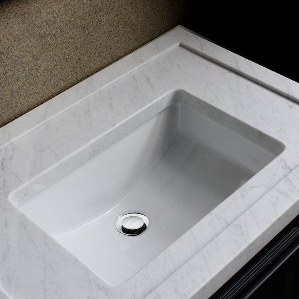 Highpoint Collection Ceramic 18x12-inch Undermount Vanity Sink - White ...