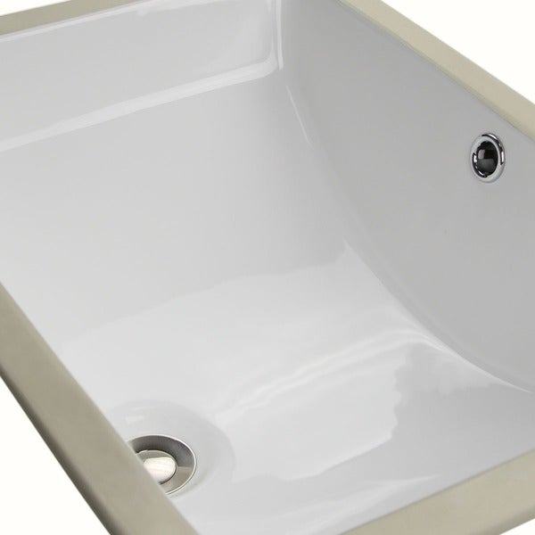 Undermount Bathroom Sink For 18 Inch Vanity highpoint collection white ceramic undermount vanity sink - free