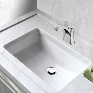 Highpoint Collection White Ceramic Undermount Vanity Sink