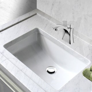 Charmant Highpoint Collection White Ceramic Undermount Vanity Sink