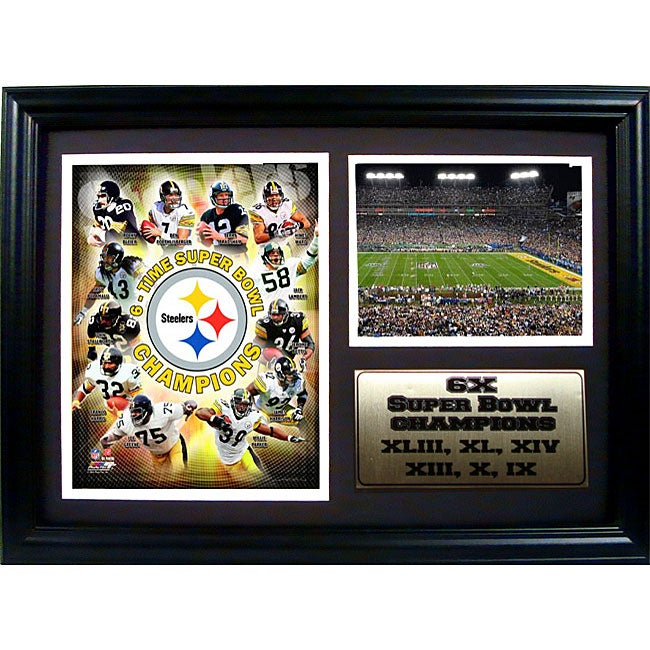 'Steelers Champions' 12x18 Framed Collectible Frame