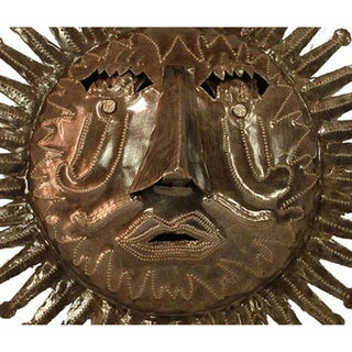 Link to Recycled Oil Drum Natural Sun Wall Art  , Handmade in Haiti Similar Items in Outdoor Decor