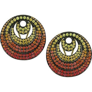Miadora Signature Collection 18k Gold Yellow and Orange Sapphire Earrings