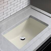 Highpoint Collection Ceramic 18x12-inch Undermount Vanity Sink - Bisque