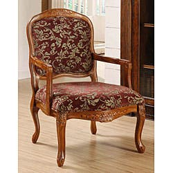 Curved Arm Merlot Floral Chair|https://ak1.ostkcdn.com/images/products/3867480/Curved-Arm-Merlot-Floral-Chair-P11917715.jpg?impolicy=medium