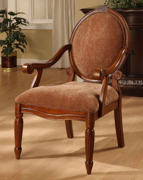 Oval-tip Burnt Paisley Arm Chair