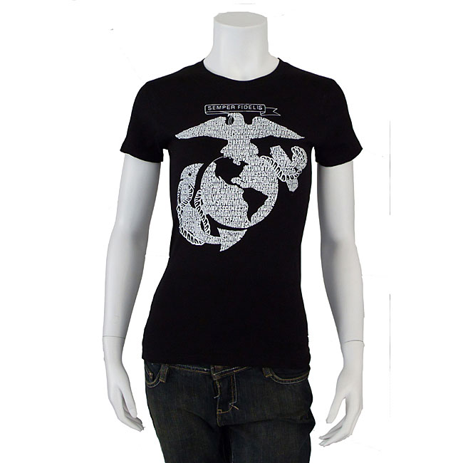 Los Angeles Pop Art Women's US Marine T-shirt