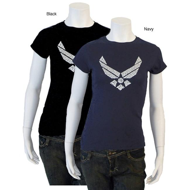 Los Angeles Pop Art Women's Air Force Lyric T-shirt