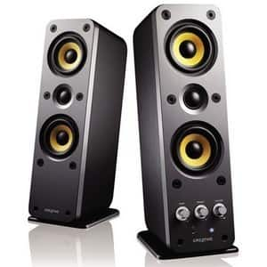 Creative GigaWorks T40 2.0 Speaker System - 32 W RMS - Glossy Black